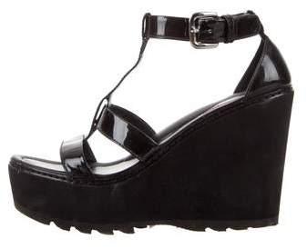Sandal Patent Wedges Patent Sport Sport Leather Sandal Leather kOPZuXi