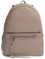 Rebecca Minkoff 'Always On Regan' Leather Backpack - Grey