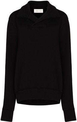 LES TIEN Shawl Collar Sweatshirt