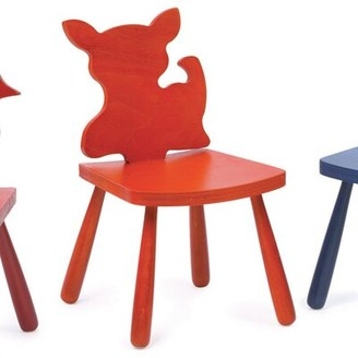 "The Children's Furniture Co. Animal Cat Kids Chair Size: 23"" H x 14.5"" W x 14"" D, Color: Natural"
