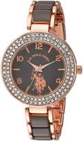 U.S. Polo Assn. Women's Quartz Metal and Alloy Casual Watch, Color:Two Tone