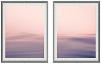 "One Kings Lane Alex Hoerner - Seascape I Acrylic Diptych Art - 10""L X 8""W"