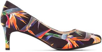 Castaluna Plus Size Wide Fit Tropical Floral Print Stiletto Heels