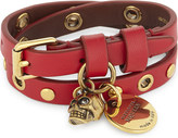Alexander McQueen Leather double wrap bracelet
