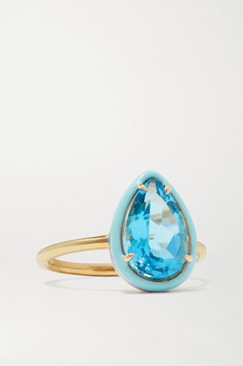 Alison Lou 14-karat Gold, Topaz And Enamel Ring - 6
