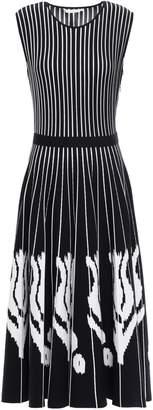 Oscar de la Renta Merino Wool-blend Jacquard Midi Dress