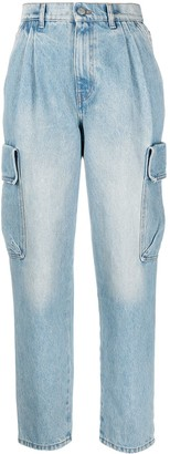RED Valentino High-Waist Tapered Denim Jeans