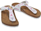 Birkenstock Girls Gizeh Birko-Flor Regular Fit Sandals Disney Princess White