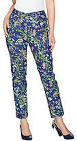 C. Wonder As Is Regular Botanical Floral Print Ankle Jeans