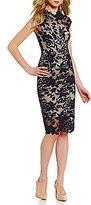 Antonio Melani Madeleine Mock Neck Sleeveless Lace Sheath Dress