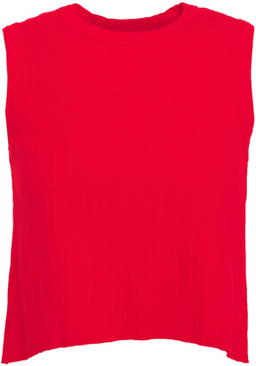 Enza Costa Cropped Ribbed Stretch Cotton And Modal-blend Jersey Top