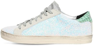 P448 20mm John Glittered Leather Sneakers
