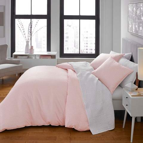 CITY SCENE Pink Penelope Duvet Cover Set