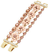 Betsey Johnson Crystal and Faceted Stone Flower Bracelet