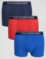 Polo Ralph Lauren 3 Pack Stretch Cotton Trunks