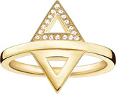 Thomas Sabo Triangle 18ct yellow gold-plated diamond ring