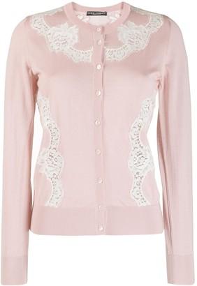 Dolce & Gabbana lace insert cardigan