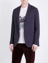 Etro Micro-print regular-fit wool jacket