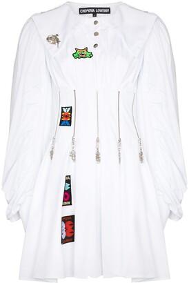 Chopova Lowena Daze zip-embellished pleated dress