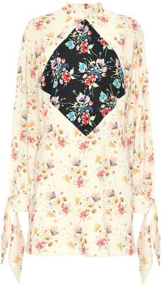 Christopher Kane Archive Floral crepe minidress