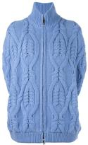 Fay open sleeve cable knit cardigan