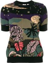 Paul Smith Midnight jacquard short sleeve sweater