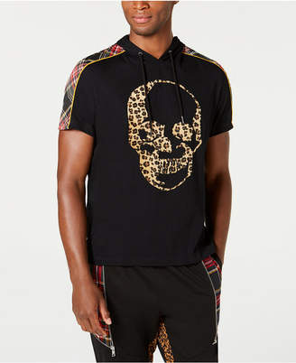 INC International Concepts Inc Men Leopard Print Skull Graphic T-Shirt