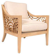 David Francis Furniture Manhattan Lounge Chair - Almond/Sand