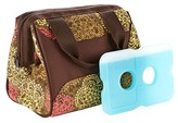 Fit & Fresh Downtown Insulated Lunch Bag with Reusable Ice Pack - Olive Floral