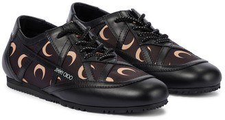 Jimmy Choo Exclusive to Mytheresa x Marine Serre printed leather-trimmed sneakers