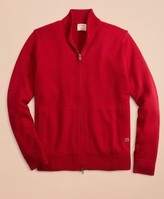 Brooks Brothers Merino Wool Zip-Up Sweater