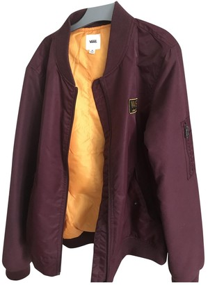 Vans Burgundy Polyester Jackets