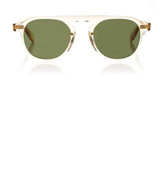 Garrett Leight Harding 47 Clear Round-Frame Acetate Sunglasses
