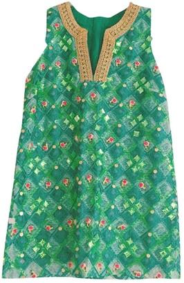 Manoush Green Glitter Dress for Women