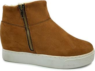 Bamboo Women's Sneakers DARK - Dark Camel Rise Platform Hi-Top Sneaker - Women