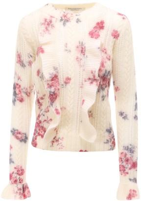 Philosophy di Lorenzo Serafini Floral Print Knit Sweater