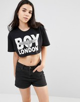 Boy London Logo Crop Top