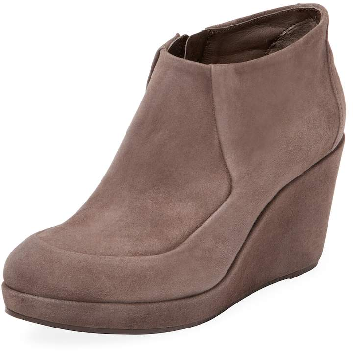 Coclico Women's Hilda Leather Wedge Bootie