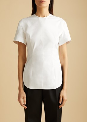 KHAITE The Renny Top in White