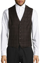 Haight And Ashbury Classic-Fit Wool Bank Plaid Vest