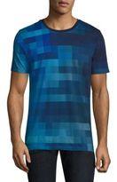 HUGO BOSS Squares Print Cotton Shirt