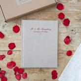 Jonny's Sister Personalised Linen Wedding Album