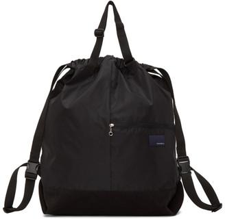 Nanamica Black Two-Way Messenger Bag