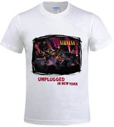 Jstmon Nirvana Mtv Unplugged In New York 2016 Men's Crew Tee Shirts White
