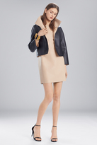 Josie Natori Faux Leather Short Topper