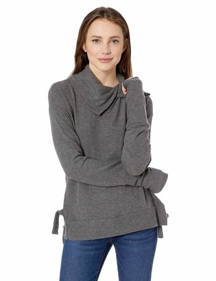 Three Dots Women's QQ2778 Brushed Sweater W/Novelty Neck