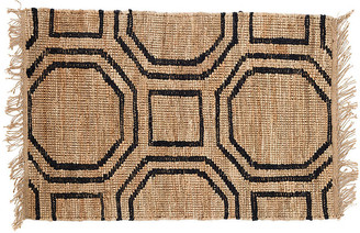 Dash & Albert Hexile Jute Rug - Natural/Black 5'x8'