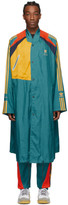 adidas Bed J.W. Ford BED J.W. FORD Green and Multicolor Edition Long Coat