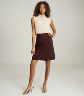 Thumbnail for your product : Reiss Freya - Tailored Pencil Skirt in Berry