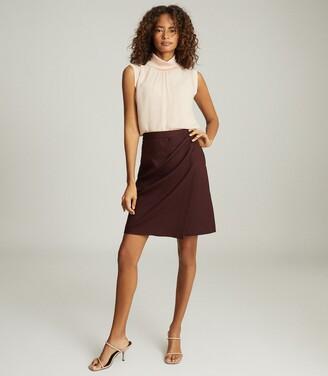 Reiss Freya - Tailored Pencil Skirt in Berry